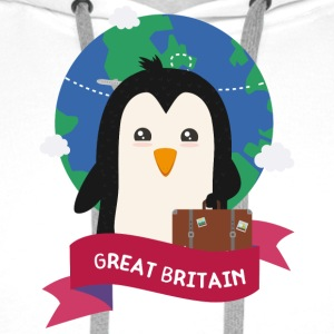 Penguin Globetrotter from Great Britain Sza2p0 Hoodies & Sweatshirts - Men's Premium Hoodie