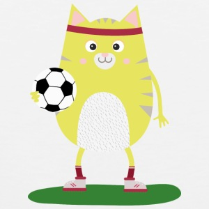 Soccer Cat with Ball Ssabs Sports wear - Men's Premium Tank Top