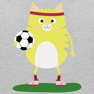 Soccer Cat with Ball Ssabs T-Shirts - Women's Organic V-Neck T-Shirt by Stanley & Stella