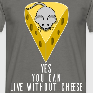 Vegan - Yes, you can live without cheese - Men's T-Shirt