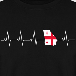 I love Georgia - Georgia - heartbeat Hoodies & Sweatshirts - Men's Sweatshirt