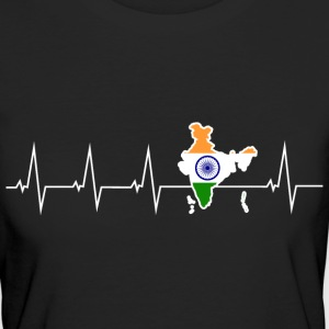 I love India - heartbeat T-Shirts - Women's Organic T-shirt