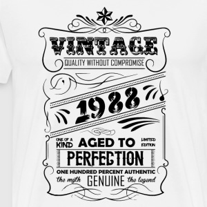 Vintage Aged To Perfection 1988 T-Shirts - Men's Premium T-Shirt