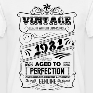 Vintage Aged To Perfection 1981 T-Shirts - Men's T-Shirt