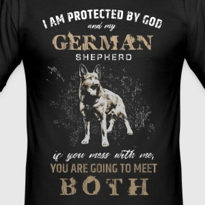 German Shepherd Dog T-Shirts - Men's Slim Fit T-Shirt