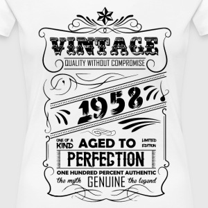 Vintage Aged To Perfection 1958 T-Shirts - Women's Premium T-Shirt