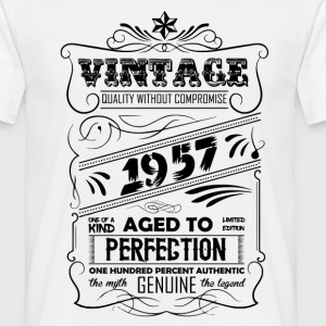 Vintage Aged To Perfection 1957 T-Shirts - Men's T-Shirt
