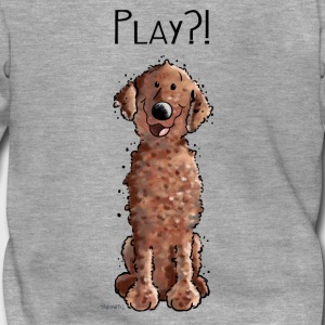 Curly Coated Retriever Play - Tier - Tiere - Hund  Pullover & Hoodies - Männer Premium Kapuzenjacke
