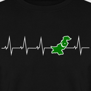 J'adore le Pakistan - battement de coeur Sweat-shirts - Sweat-shirt Homme