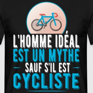 L'homme idéal cycliste t-shirt humour cycliste Tee shirts - T-shirt Homme
