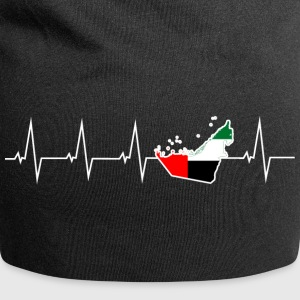 I love United Arab Emirates - United Arab Emirates - heartbeat Caps & Hats - Jersey Beanie