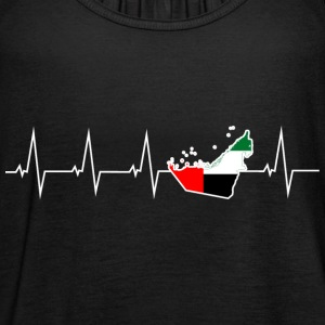 I love United Arab Emirates - United Arab Emirates - heartbeat Tops - Women's Tank Top by Bella