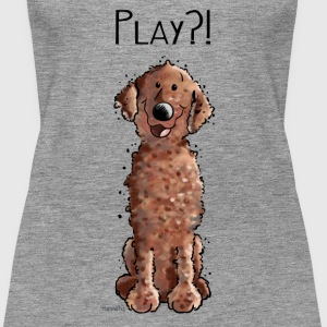 Curly Coated Retriever Play - Tier - Tiere - Hund  Tops - Frauen Premium Tank Top