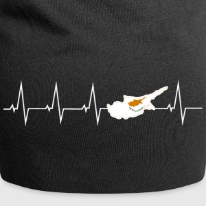 I love Cyprus - heartbeat Caps & Hats - Jersey Beanie