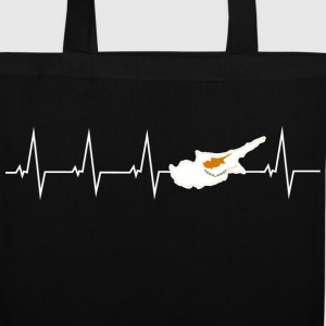 I love Cyprus - heartbeat Bags & Backpacks - Tote Bag