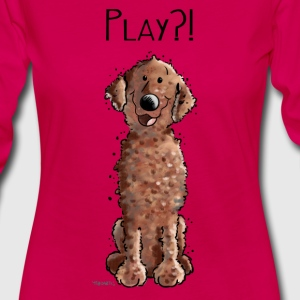 Curly Coated Retriever Play - Tier - Tiere - Hund  Langarmshirts - Frauen Premium Langarmshirt