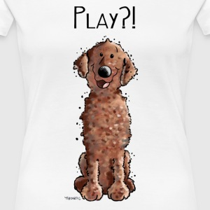 Curly Coated Retriever Play - Tier - Tiere - Hund  T-Shirts - Frauen Premium T-Shirt