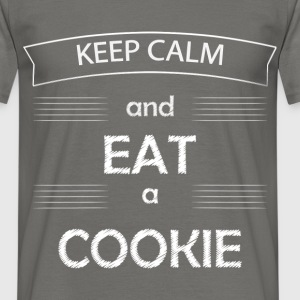 Cookie - Keep calm and eat a cookies - Men's T-Shirt