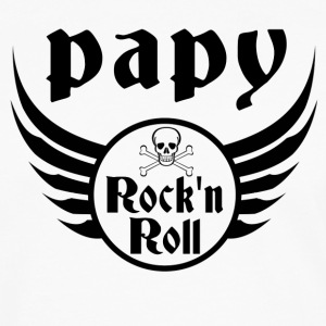 Papy Rock and roll Manches longues - T-shirt manches longues Premium Homme