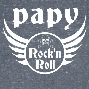 Papy Rock and roll Tee shirts - T-shirt bio col en V Stanley & Stella Homme