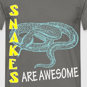 Snakes - Snakes are awesome - Men's T-Shirt