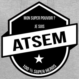 MON SUPER POUVOIR: ATSEM - Sweat-shirt à capuche long