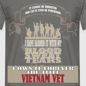 Veteran vet - It cannot be inherited nor can it  - Men's T-Shirt