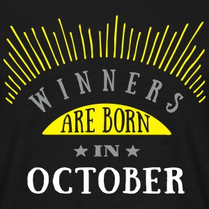 Winners Are Born In October - 3C T-Shirts - Männer T-Shirt