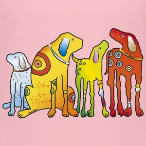 Hunde Dogs Hounds beste Freunde best friends Meute - Kinder Premium T-Shirt