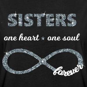 Sisters one heart one soul, Infinity Glitzer 8 BFF T-Shirts - Frauen Oversize T-Shirt