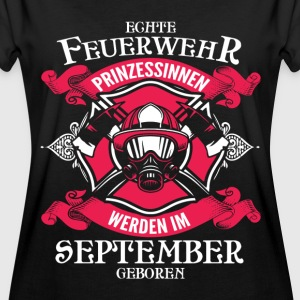 September - fire princess - birthday - outfit - DE T-Shirts - Women's Oversize T-Shirt