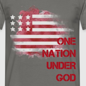 America - One nation under GOD - Men's T-Shirt