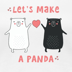 let's make a panda T-Shirts - Women's Premium T-Shirt