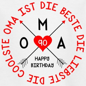 Oma_90.Geburtstag  T-Shirts - Teenager T-Shirt