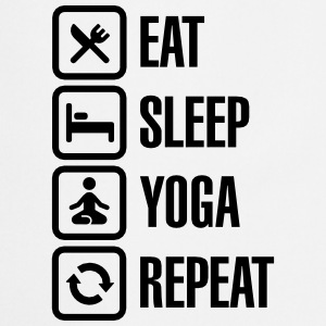 Eat Sleep Yoga repeat Fartuchy - Fartuch kuchenny