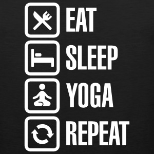 Eat Sleep Yoga repeat Odzież sportowa - Tank top męski Premium