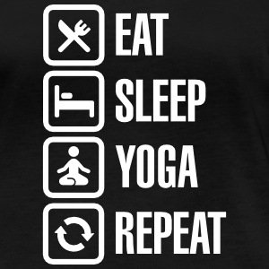 Eat Sleep Yoga repeat Long Sleeve Shirts - Women's Organic Longsleeve Shirt by Stanley & Stella