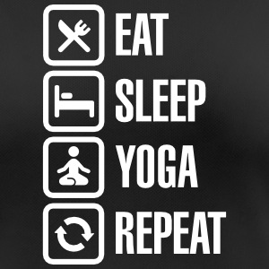 Eat Sleep Yoga repeat T-shirts - Andningsaktiv T-shirt dam