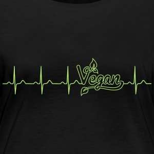 My heart is beating vegan - vegan - eco-bio Long Sleeve Shirts - Women's Organic Longsleeve Shirt by Stanley & Stella