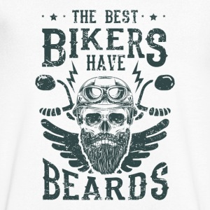 The best bikers have beards - skull motorcycle T-Shirts - Men's Organic V-Neck T-Shirt by Stanley & Stella