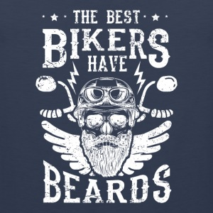 The best bikers have beards - skull motorcycle Sportkläder - Premiumtanktopp herr