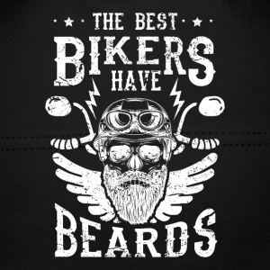 The best bikers have beards - skull motorcycle Babyhuer  - Babyhue
