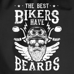 The best bikers have beards - skull motorcycle Borse & Zaini - Sacca sportiva
