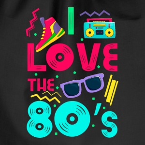 I love the 80s - cool and crazy Tassen & rugzakken - Gymtas