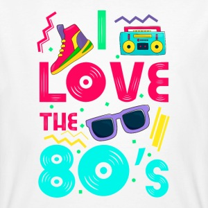I love the 80s - cool and crazy Camisetas - Camiseta ecológica hombre