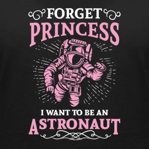 Forget princess i want to be an astronaut T-shirts - Vrouwen bio T-shirt met V-hals van Stanley & Stella
