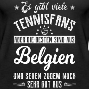 Tennis T-Shirt - Belgien Tops - Frauen Premium Tank Top