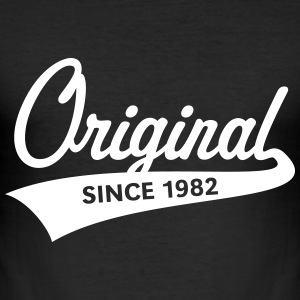 Original Since 1982 (Year Of Birth, Birthday, 1C) T-Shirts - Men's Slim Fit T-Shirt