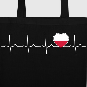 Polska heartbeat - my heart beats for Poland Bags & Backpacks - Tote Bag