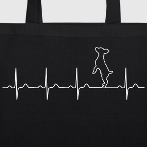 Pinscher heartbeat - dog - pet - owner love Bags & Backpacks - EarthPositive Tote Bag